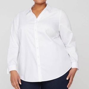 White Buttonfront No Iron Shirt